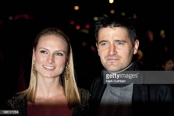 Tom Chambers And Clare Harding Arriving For The World Premiere And Royal Film Performance Of The Lovely Bones At The Odeon Leicester Square, London.