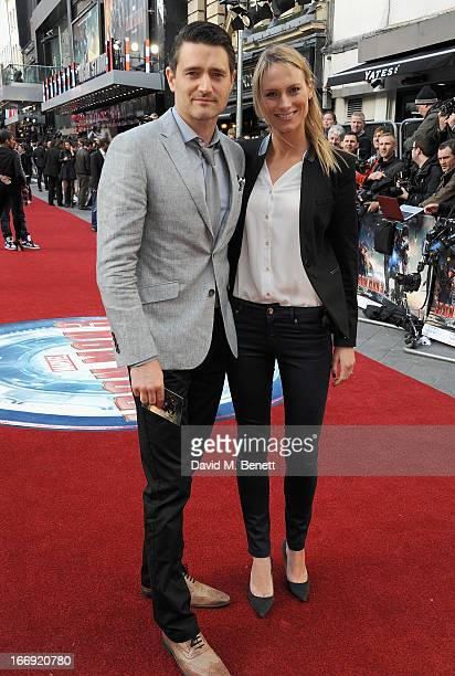 Tom Chambers and Clare Harding attend the Iron Man 3 Special Screening at the Odeon Leicester Square on April 18 2013 in London England