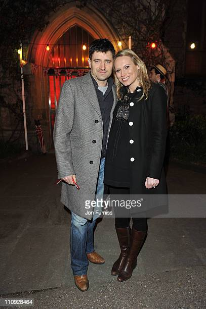 Tom Chambers and Clare Harding attend the Pimm's Summer Party to celebrate the start of British Summer at The Garden Museum on March 26, 2011 in...