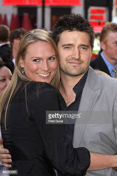 Tom Chambers and wife Clare attend the UK premiere of 'Star Trek' at the Empire Leicester Square on April 20, 2009 in London, England.