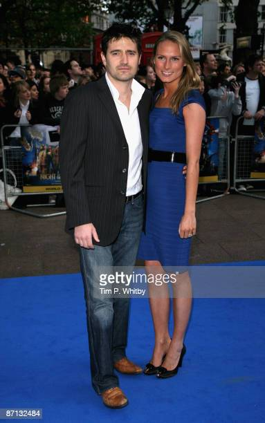 Tom Chambers and wife Clare Harding arrive for the World Premiere of 'Night at the Museum 2' at Empire Leicester Square on May 12, 2009 in London,...
