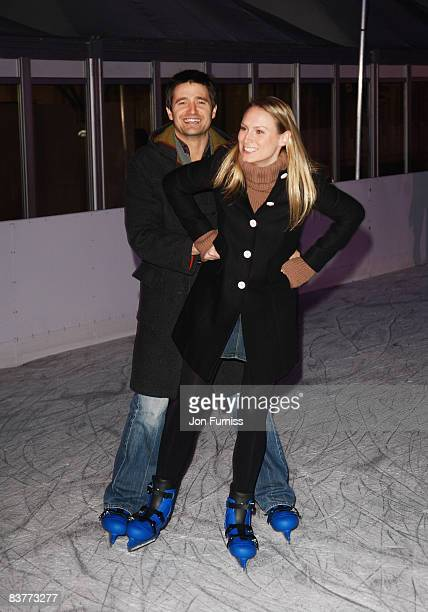 Tom Chambers and wife Clare Harding attend the Winter Wonderland Launch Party held in Hyde Park on November 20, 2008 in London, England.