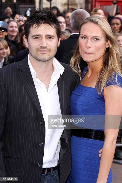 Tom Chambers and wife Clare Harding attend the world premiere of 'Night at the Museum 2' at Empire Leicester Square on May 12, 2009 in London,...