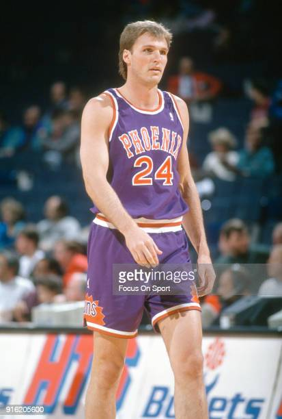 Tom Chambers Of The Phoenix Suns Looks On Against Washington Bullets During An NBA Basketball