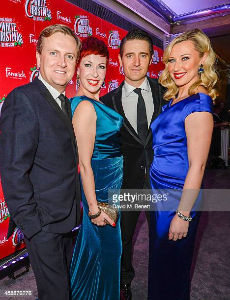 Tom Chambers Rachel Stanley Aled Jones and Louise Bowden arrive at the 'White Christmas' press night after party at The Bloomsbury Ballroom on...