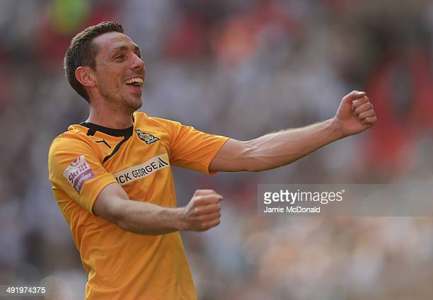 Tom Champion of Cambridge United celebrates during the Skrill Conference Premier PlayOffs Final between Cambridge United and Gateshead FC at Wembley...