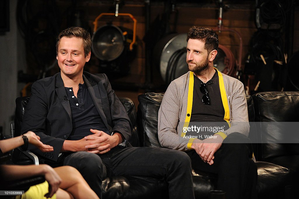 Tom Chaplin and Richard Hughes of Keane stop by ''Fuse Top 20 Countdown'' at fuse Studios on May 27, 2010 in New York City.