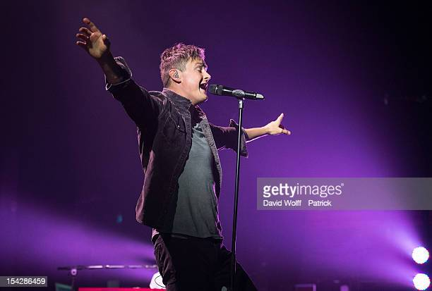 Tom Chaplin of Keane performs at L'Olympia on October 17, 2012 in Paris, France.