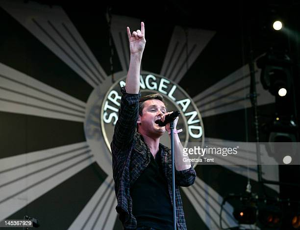 Tom Chaplin of Keane performs live on day two of Pinkpop Festival at Megaland on May 27, 2012 in Landgraaf, Netherlands.
