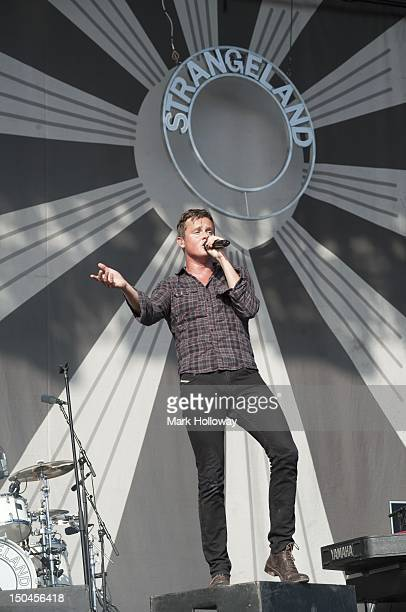 Tom Chaplin of Keane performs on stage during V Festival on August 18 2012 in Chelmsford United Kingdom