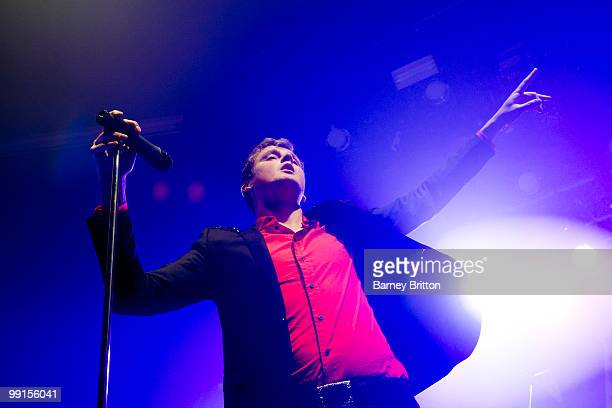Tom Chaplin of Keane performs onstage at Fridge, Brixton, at launch of new 8 track EP on May 12, 2010 in London, England.