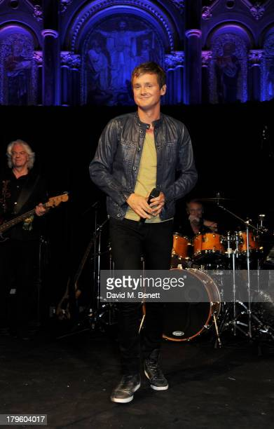 Tom Chaplin performs at the Queen AIDS Benefit in support of The Mercury Phoenix Trust at One Mayfair on September 5 2013 in London England