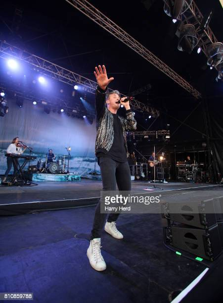 Tom Chaplin performs on Day 2 of Cornbury Festival on July 8 2017 in Oxford England