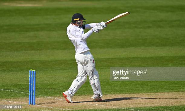 Tom Clark of Sussex bats during day two of the LV= Insurance County Championship match between Glamorgan and Sussex at Sophia Gardens on April 16,...