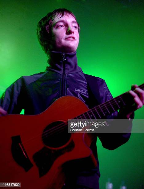 Tom Clarke of The Enemy performs at Night and Day Cafe on March 12 2008 in Manchester England