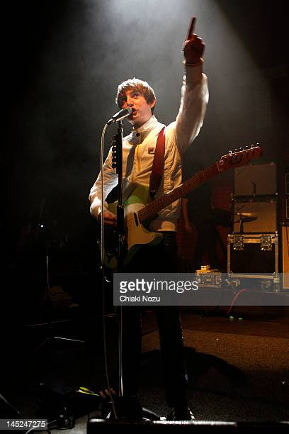 Tom Clarke of The Enemy performs at Shepherds Bush Empire on May 24 2012 in London England