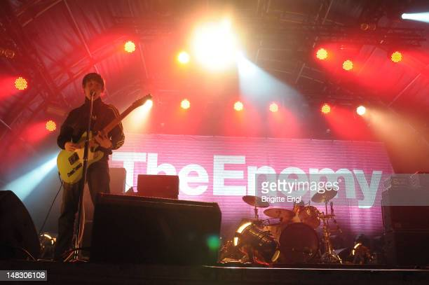 Tom Clarke of The Enemy performs on stage during Summer Series at Somerset House on July 13 2012 in London United Kingdom