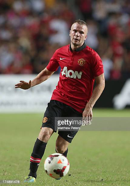 Tom Cleverley of Manchester United in action during the preseason friendly match between Kitchee FC and Manchester United as part of their preseason...