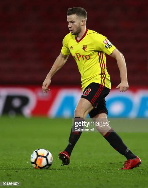 Tom Cleverley of Watford during the Emirates FA Cup Third Round match between Watford and Bristol City at Vicarage Road on January 6 2018 in Watford...