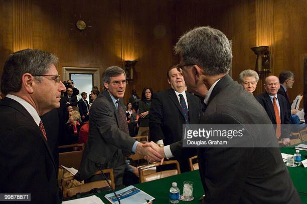 Tom Coburn ROK greets the witnesses testifying before the full committee hearing on The Need for FDA Regulation of Tobacco Products Witnesses Richard...