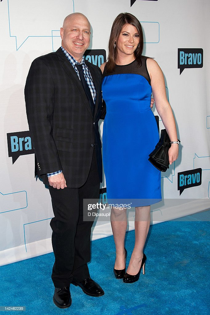 Tom Colicchio (L) and Gail Simmons attend Bravo Upfront 2012 at Center 548 on April 4, 2012 in New York City.