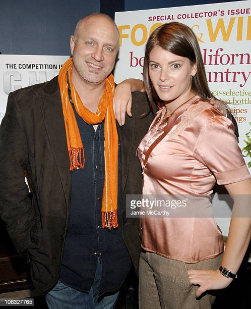 Tom Colicchio and Gail Simmons during Food and Wine Magazine Celebrates the Premiere of Bravo's 'Top Chef' at Craft Bar in New York City New York...