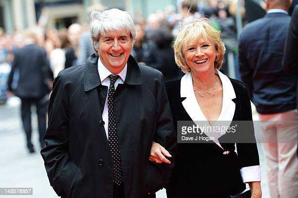 Tom Conti attends the European premiere of The Dark Knight Rises at The Odeon Leicester Square on July 18 2012 in London England
