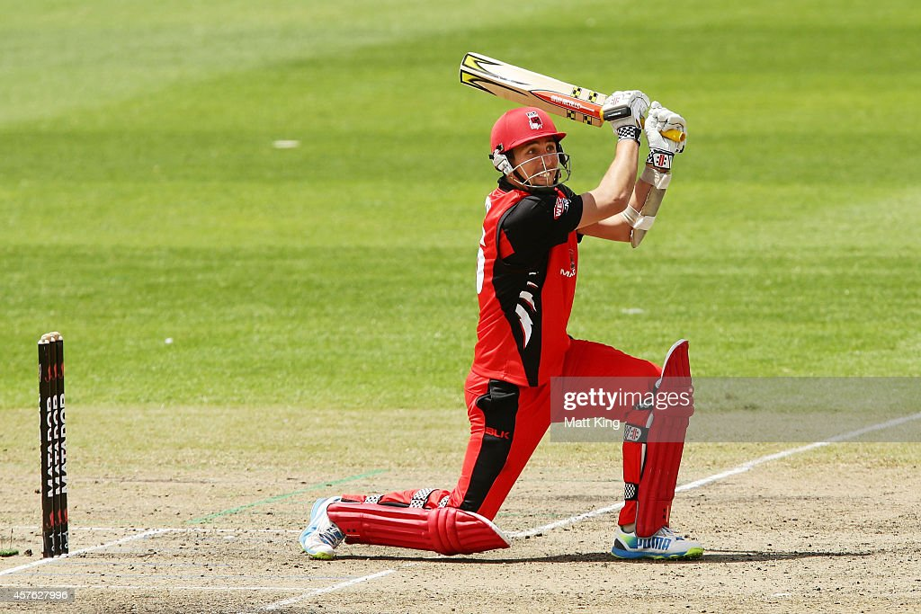 Tom Cooper of the Redbacks bats during the Matador BBQs One Day Cup match between Tasmania and South Australia at North Sydney Oval on October 22, 2014 in Sydney, Australia.