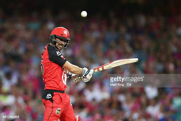 Tom Cooper of the Renegades bats during the Big Bash League match between the Sydney Sixers and the Melbourne Renegades at Sydney Cricket Ground on...