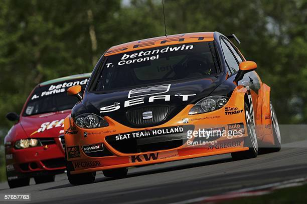 Tom Coronel of The Netherlands and GR Asia in action during practice for the FIA World Touring Car Championship on May 21 2006 at Brands Hatch England