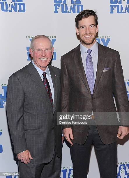 Tom Coughlin and Eli Manning attend the 9th Annual Tom Coughlin Jay Fund Champions For Children Gala>> at Cipriani 42nd Street on October 25 2013 in...