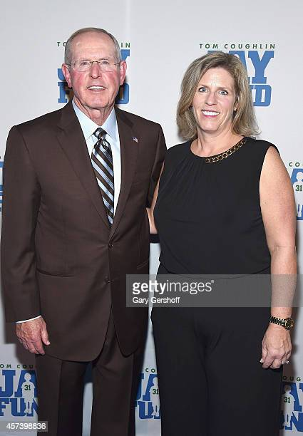 Tom Coughlin and Executive Director Keli Coughlin attend the 2014 Tom Coughlin Jay Fund Foundation's Champions for Children Gala at Cipriani 42nd...