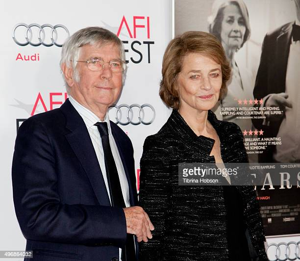 Tom Courtenay and Charlotte Rampling attend a tribute to Charlotte Rampling and Tom Courtenay at AFI FEST 2015 presented by Audi at TCL Chinese...