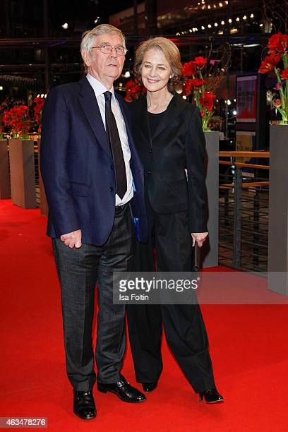 Tom Courtenay and Charlotte Rampling attend the Closing Ceremony of the 65th Berlinale International Film Festival on February 14 2015 in Berlin...