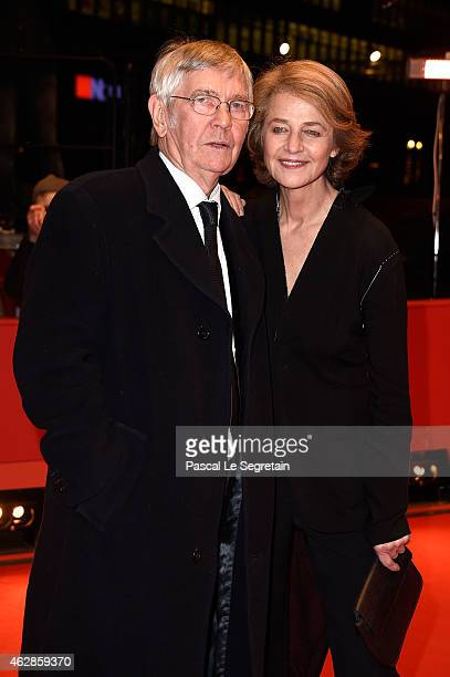 Tom Courtenay and Charlotte Rampling attends the '45 Years' premiere during the 65th Berlinale International Film Festival at Berlinale Palace on...