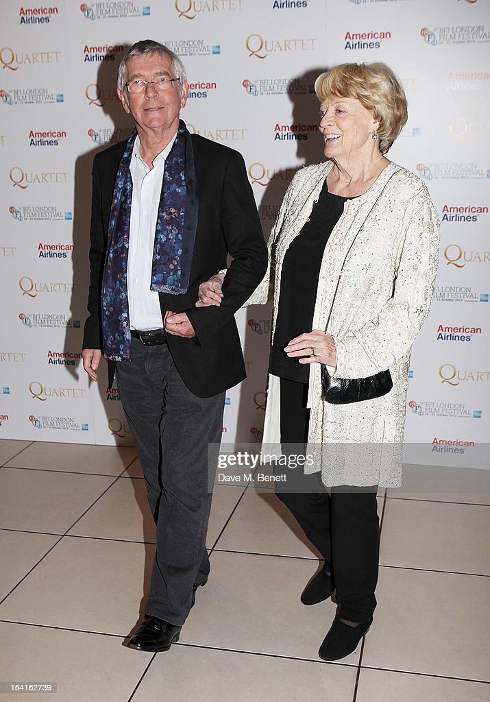 Tom Courtenay (L) and Dame Maggie Smith attend the Premiere of 'Quartet' during the 56th BFI London Film Festival at Odeon Leicester Square on October 15, 2012 in London, England.