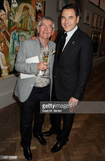 Tom Courtenay and David Walliams attend 'A Celebration Of The Arts' at Royal Academy of Arts on May 23 2012 in London England