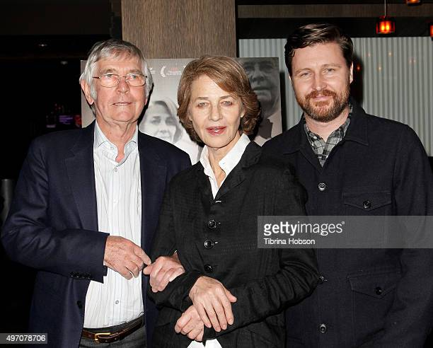 Tom Courtenay Charlotte Rampling and Andrew Haigh attend the screening and reception for sundance selects' '45 Years' at iPic Westwood on November 13...