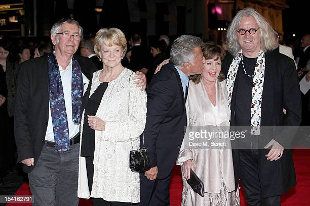 Tom Courtenay, Dame Maggie Smith, director Dustin Hoffman, Pauline Collins and Billy Connolly attend the Premiere of 'Quartet' during the 56th BFI...
