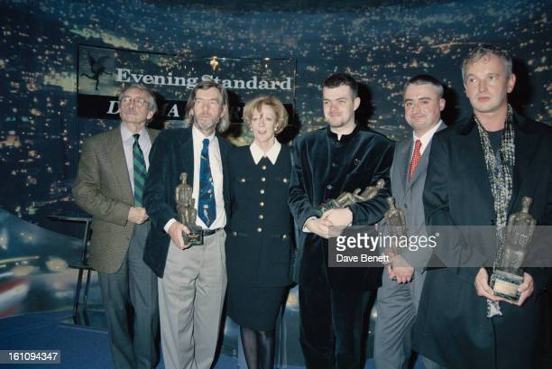 English actors Tom Courtenay and Maggie Smith at the Evening Standard Drama Awards London November 1994 Smith won the Best Actress award for 'Three...