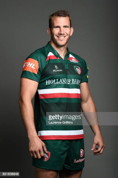 Tom Croft of Leicester Tigers poses for a portrait during the squad photo call for the 20172018 Aviva Premiership Rugby season at Welford Road on...