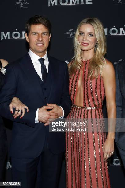 Tom Cruise and Annabelle Wallis attend 'The Mummy' Paris Premiere at Le Grand Rex on May 30 2017 in Paris France