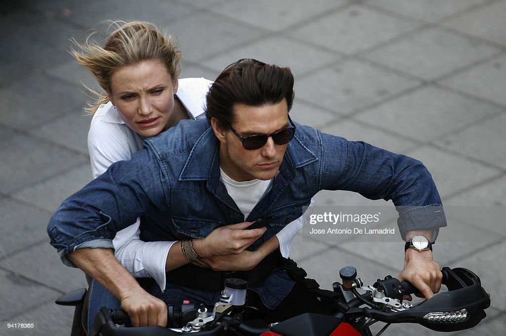 Tom Cruise and Cameron Diaz seen during the shooting of the film 'Knight and Day' on December 9, 2009 in Seville, Spain.