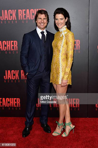 Tom Cruise and Cobie Smulders attend the 'Jack Reacher Never Go Back' Fan Screening at AMC Elmwood Palace 20 on October 16 2016 in Harahan Louisiana