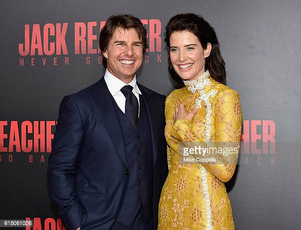 Tom Cruise and Cobie Smulders attend the Jack Reacher Never Go Back Fan Screening at AMC Elmwood Palace 20 on October 16 2016 in Harahan Louisiana
