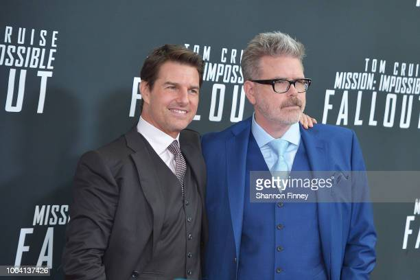 Tom Cruise and director Christopher McQuarrie attend the US Premiere of Mission Impossible Fallout at Smithsonian's National Air and Space Museum on...