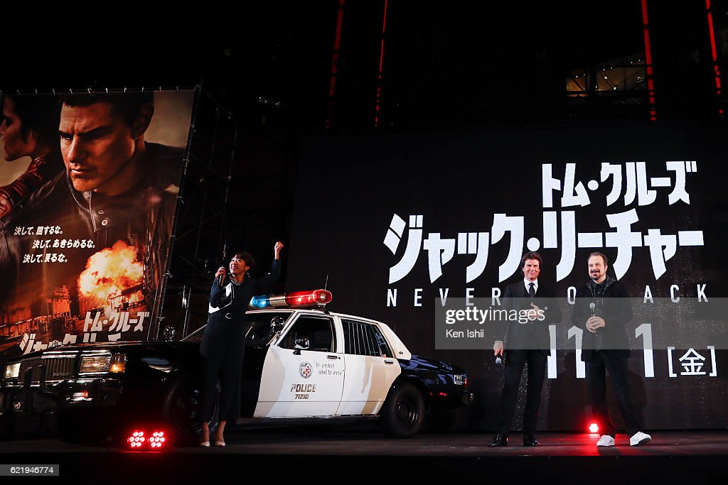 Tom Cruise (C) and Edward Zwick (R) attend the Tokyo Premiere of the Paramount Pictures' 'Jack Reacher: Never Go Back' on November 9, 2016 at Toho Cinemas Roppongi Hills on November 9, 2016 in Tokyo, Japan.