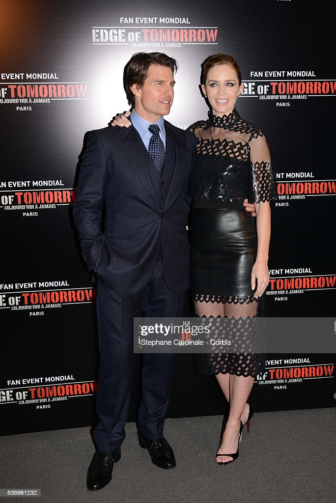 Tom Cruise and Emily Blunt attend 'Edge Of Tomorrow' Photocall at Cinema UGC Normandie on May 28, 2014 in Paris.