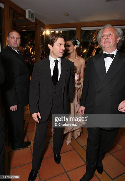 Tom Cruise and Graydon Carter during 2007 Vanity Fair Oscar Party Hosted by Graydon Carter - Inside at Mortons in West Hollywood, California, United...
