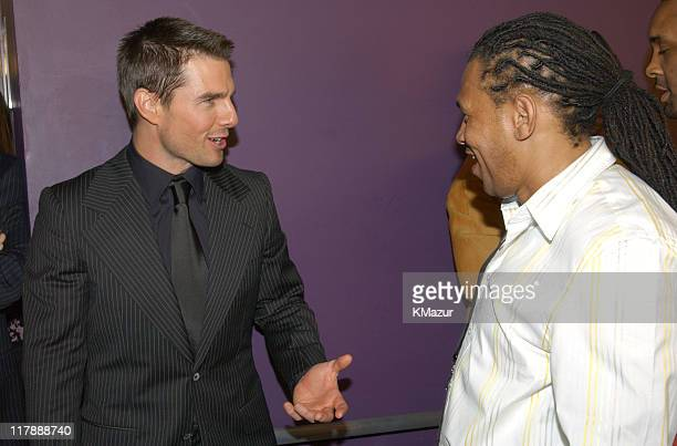 Tom Cruise and Jamal Lewis during 2004 ESPY Awards Backstage and Audience at Kodak Theatre in Hollywood California United States